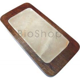 Πλάκα Ιμαλαΐων με ξύλινη βάση σερβιρίσματος