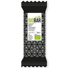 Μπάρα Bio με βρώμη, μέλι, γκουαράνα, τζίνσενγκ & τζίντζερ 40gr (NATURALS)