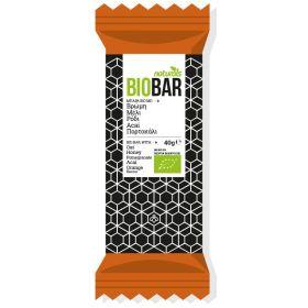 Μπάρα Bio με βρώμη, μέλι, ρόδι, Αcai & πορτοκάλι 40gr (NATURALS)