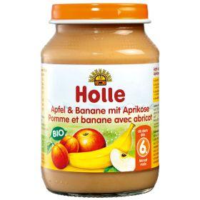 Βρεφική φρουτόκρεμα μήλο μπανάνα βερίκοκο (HOLLE)