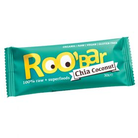 Ωμή Μπάρα με σπόρους Chia και καρύδα 30g (ROOBAR)
