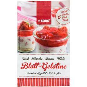 Βιολογική ζελατίνη σε φύλλα 10gr (SOBO)