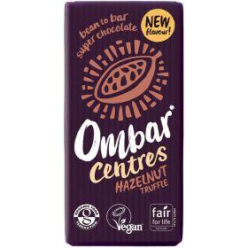 Ωμή ακατέργαστη μαύρη σοκολάτα φουντούκι BIO-OMBAR
