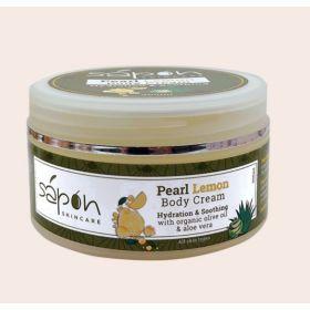 Κρέμα σώματος με βιολογικό ελαιόλαδο, χαμομήλι,αλόη & άρωμα λεμόνι 200ml (SAPON)