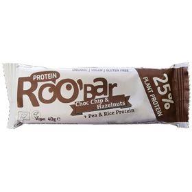 Μπάρα Πρωτεΐνης σοκολάτα-φουντούκι Χ/ΓΛ BIO (ROOBAR)