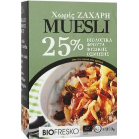 Μούσλι ελληνικών φρούτων 25% BIO 350gr (BIOFRESCO)