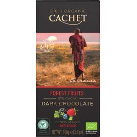 Σοκολάτα Μαύρη 57% Φρούτα Δάσους BIO (CACHET)