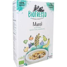 Μούσλι ελληνικών φρούτων 35% BIO 350gr (BIOFRESCO)