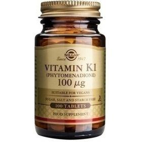 Βιταμίνη K1 100μg 100tb (SOLGAR)